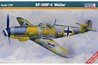 Сборная модель Истребитель Bf-109 F-4 Muller (Mister Craft C38) 1/72
