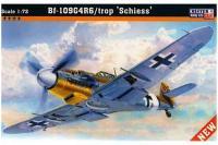 Сборная модель Истребитель Bf-109 G-4/trop Shiess (Mister Craft C88) 1/72