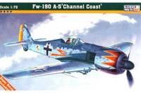 """Сборная модель Истребитель Fw-190 A5 """"Channel Coast"""" (Mister Craft C02) 1/72"""