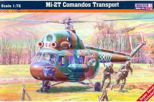 """Сборная модель - вертолет Mи-2 """"Comandos"""" (Mister Craft D152) 1/72"""