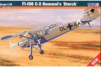 """Сборная модель Истребитель Fiesler Fi-156 C-3 """"Rommel's Storch"""" (Mister Craft D204) 1/72"""