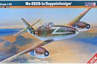 """Сборная модель Учебно-тренировочный самолет Me-262B-1a """"Doppelzitzsiger"""" (Mister Craft D215) 1/72"""