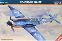 """Сборная модель Истребитель Bf.109G-12 """"JG-101"""" (Mister Craft D25) 1/72"""