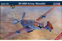 """Сборная модель Истребитель Bf-109F-4 /Trop """"Marseille"""" (Mister Craft C40) 1/72"""