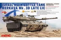 Сборная модель - Merkava Mk.3D late LIC основной израильский боевой танк (MENG TS026) 1/35