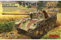 Сборная модель - Немецкий средний танк Sd.Kfz.171 PANTHER Ausf.A LATE / Пантера (MENG TS-035) 1/35