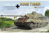 Сборная модель - немецкий тяжелый танк Sd. Kfz. 182 King Tiger (Porsche Turret) / Королевский тигр (MENG TS-037) 1/35