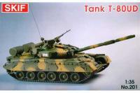 Сборная модель - Т-80-УД «Береза» советский боевой танк (Skif 201) 1/35