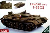 """T-55C-2 """"Favorit"""" Чешский тренеровочный танк (Skif 231) 1/35"""