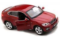 Машинка р/у 1:24 Meizhi лиценз. BMW X6 металлическая (красная)