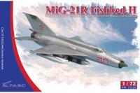 """Сборная модель - разведывательный самолет МиГ-21 Р """"Fishbed H"""" (Parc Models 7216) 1/72"""