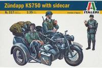 мотоцикл ZUNDAPP KS750 з коляскою (ITALERI 317) 1/35
