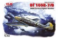 Винищувач Messerchmitt Bf 109E-7 / B (ICM 72135) 1/72