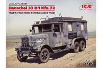 німецький автомобіль радіозв'язку Henschel 33 D1 Kfz.72 (ICM 35467) 1/35