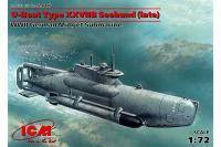 """Підводний човен типу XXVII """"Seehund"""" (пізня) (ICM S007) 1/72"""