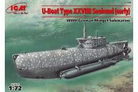 """Підводний човен типу XXVII """"Seehund"""" (рання) (ICM S.006) 1/72"""