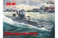 U-Boat Type IIB (1943 р) (ICM S.010) 1/144