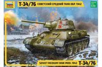 Т-34/76 зр. 1942 р. (ZVEZDA 3686) 1/35