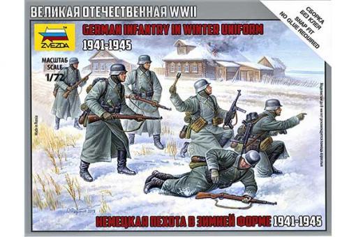 Німецька піхота в зимовій формі 1941-1945 рр (ZVEZDA 6198) 1/72