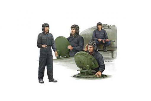 Сборные солдатики - Советский танковый экипаж / Soviet tank crew (TRUMPETER 00435) 1/35