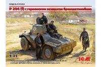 P 204 (f) з німецьким екіпажем бронеавтомобіля (ICM 35382) 1/35