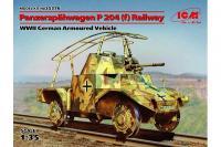 Panzerspähwagen P 204 залізничний (ICM 35376)  1/35