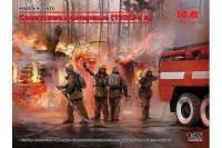 Радянські пожежники (1980-ті р.) (ICM35623) 1/35