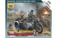 Сборная модель - Немецкий мотоцикл R-12 (ZVEZDA 6142) 1/72