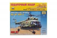 Подарочный набор с моделью вертолета Ми-8Т (ZVEZDA 7230) 1/72